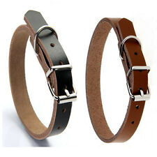 Genuine Cow Dog Collar Matching Leash available Pet Puppy Leads