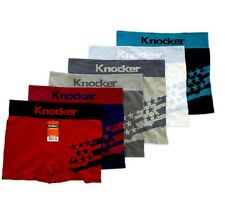 Lot 3 6 12 Men Seamless Boxer Briefs Knocker Microfiber Underwear Free Size #45