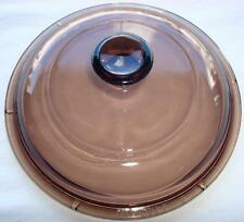 PYREX CORNING WARE AMBER SMOKE VISIONS COOKWARE LID V-1-C B For 1-Liter POT