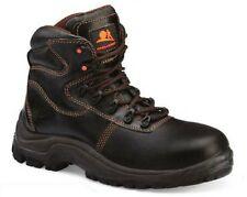 NEW Mens Black Steel Toe Cap Work Boot Size 7 UK / 41 Euro - NO RESERVE - 7694