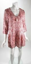 Lucky Brand Paisley Rayon Woven Long Sleeve Sleep Dress Sz S, M NWT