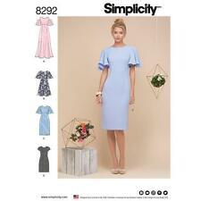 SIMPLICITY SEWING PATTERN MISSES' DRESS SIZE 6 - 22 8292