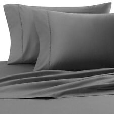 Cotton Blend Wrinkle Free Sheets 650 Thread Count Gray Sheet Set
