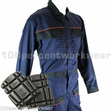 Delta Plus Panoply MCCOM Work Overalls Boiler Suit Coveralls + FREE Knee Pads