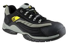 CAT Caterpillar MOOR Black Lightweight Safety Work Trainers Shoes Steel Toe Cap