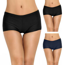 Women Boyleg Tankini Shorts Bikini Bottoms Boardshorts Solid Swimsuit Swimwear