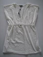 NWT CZ White Lacy Swim Bathing Suit Cover Up Tunic Top Plus Size