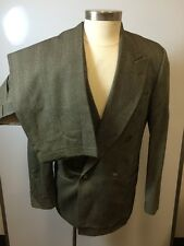 Mens HUGO BOSS 2Pc Suit Double-Breasted Black& White 93%Wool/7%Nylon Size 40R