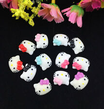 48pcs Cute Resin HELLO KITTY Bow flatback Appliques For DIY craft U Pick Color !