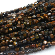 Natural Genuine Yellow Iron Tiger's Eye Small Nugget Free Form Stone Beads