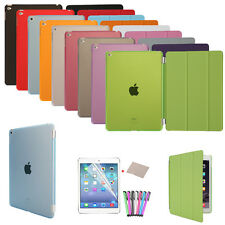 2 in One Leather Cover Hard Back Case for Apple iPad 4 3 2 Mini Air Smart Stand
