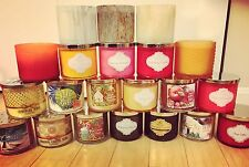 NEW Bath & Body Works White Barn 3 wick & Medium Candles - You Choose scent
