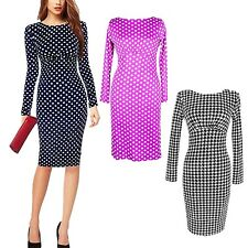 Long Sleeved Office Winter Ladies Summer Sexy Fitted Dress sz 18