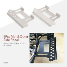 2Pcs Outer Side Pedal Plate for 1/10 Axial SCX10 RC Rock Crawler Parts HOT H1C8