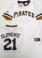 CLEMENTE PITTSBURGH PIRATES YOUTH LARGE THROWBACK JERSEY NEW MAJESTIC W TAGS