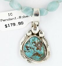 Delicate $380Tag Navajo .925 Sterling Silver Turquoise Native American Necklace