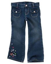 NWT Gymboree Girls Pups and Kisses Jeans Size 3 4 Slim & 8