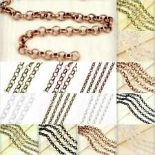 2/4m Unfinished Bulk Chain Rollo Chain Craft Necklace Jewelry Findings DIY YB