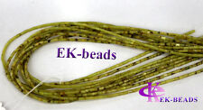 Natural Korea Olive Jade Tube Loose Beads columnar Beads Jewelry Set Beads