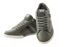 Levis Men Sneakers Turlock, Low Shoes Leather, Suede Leather Insert - Grey