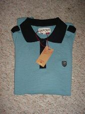 NEW MENS TAPOUT VINTAGE MINI STRIPED BLUE GRAY POLO SHIRT SZ M L XL NWT TAP OUT