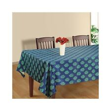 Blue Floral TableCloth Cover Rectangular Linen Tableware Runner - Size Available