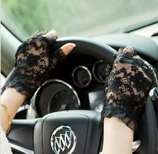 Wedding Bridal Evening Party Lace Driving Fingerless Gloves UV Protection Soft
