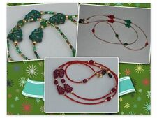 Eyeglass Chains~Christmas~Red~Green~Gold~Misty's Miracle Jewelry~BUY 3 SHIP FREE