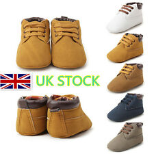 Newborn Girls Boys Crib Shoes Lace Up Martin Boots Walking Flat Toddler Trainers