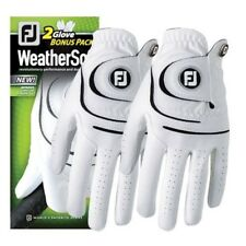 FootJoy FJ WeatherSof 2 Pack Gloves LH for RH Golfer Weather Sof Select Size