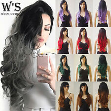 8A Heat Resistant Synthetic Hair Wig Womens Girls Long Hair Costume Full Wigs