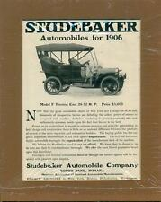 Vintage 1906 Studebaker Automobile Company Advertisement - Matted