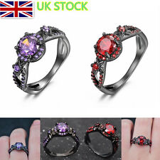UK Charm Womens Zircon Rings Ring Wedding Engagement Banquet Ladies Jewelry Size