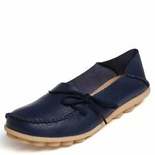 Women Real Leather Shoes Moccasins Mother Loafers Soft Leisure Flats Female 2