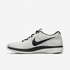 Nike Flyknit Lunar3 Mens Size Running Shoes Sail Black Sneakers 698181 101