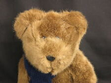 2001 RALPH LAUREN POLO BEAR BROWN EYES BLU SCARF BABY TOYS PLUSH STUFFED ANIMALS