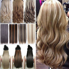 Real Thick Clip In Natural Hair Extensions Long Straight Curly Hair Extension H4