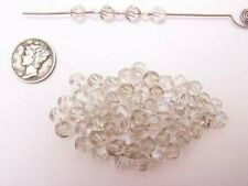 Swarovski 5020 Silver Shade Various Sizes Faceted Crystal Beads (6 pieces)