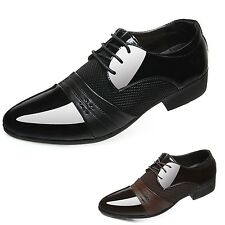 kala Mens Brogues Italian style Split joint Faux leather Wedding Shoes Size 5-13
