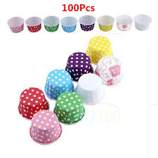 8Colors Paper Cake Cupcake Liners Baking Muffin Cup Case Wedding Birthday Party