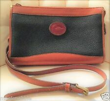 Dooney & Bourke Handbags - Navy & British Tan Leather Shoulder Bag