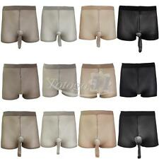 Seamless Unisex Men Womens Sheer Tights Pantyhose Underwear Boxer Briefs Shorts