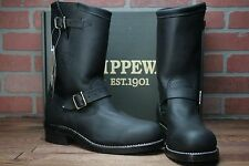 """Chippewa 11"""" Black Steel Toe Motorcycle Boots 27863 Men's Boot Engineer Style"""