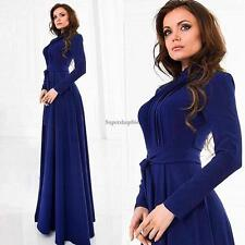 Women Ladies Long Sleeve Chiffon Maxi Long Evening Party Elegant Dress SO6H
