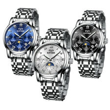 Mechanical Automatic Men's Watch KINYUED Skeleton Classic Stainless Steel