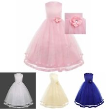 Kid Flower Girl Dress Princess Pageant Wedding Birthday Party Bridesmaid Dress