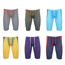 Men Yoga Stretch Running Sports Tights Workout Gym Fitness Shorts Underwear Pant