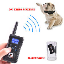 Electric Trainer 500 Yard Waterproof Remote Pet Safe Dog Shock Training Collar
