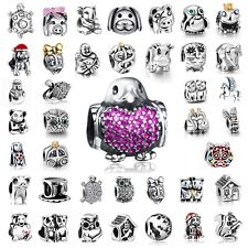 European New Silver 925 Animal Charms Bead Fit Sterling Bracelets Necklace Chain