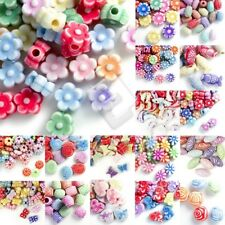 Mixed Acrylic Plastic Beads Spacer Loose Assorted Jewelry Findings Wholesale